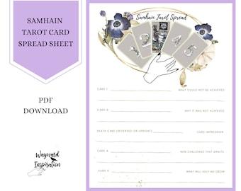 Samhain Tarot Spread | Tarot Printable | Printable Sabbat Spread | Book of Shadows Insert