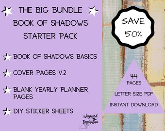 Book of Shadows Bundle | Printable BOS | DIY Grimoire Pages | Book of Shadows Basics Set