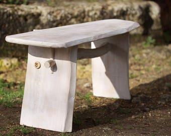 Chestnut limed white benches