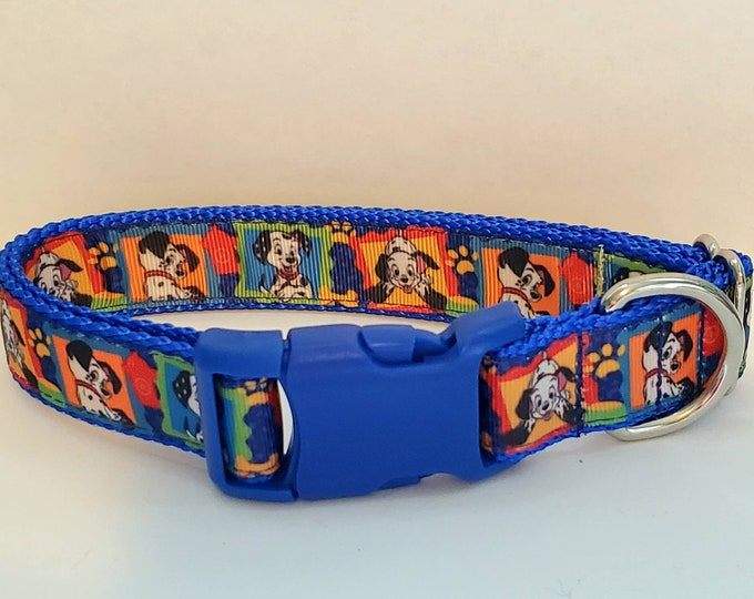 """Featured listing image: 1"""" 101 Dalmations Dog Collar"""