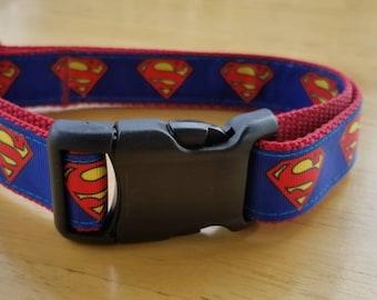 """1"""" Super Man  Dog Collar"""