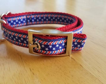 """3/4"""" Red White & Blue Patriotic Collar"""