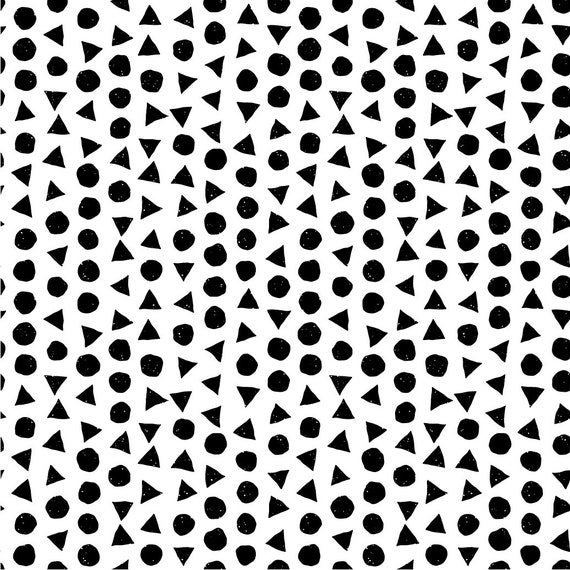 100/% algodón Black negro White blanco Print METERWARE blusa algodón
