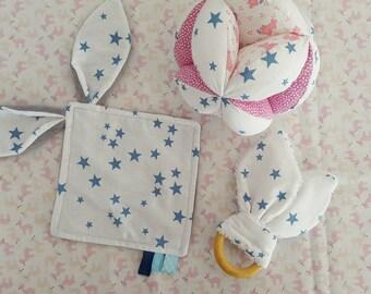 BABY'BOX O'Adele yarn - pink & sky stars