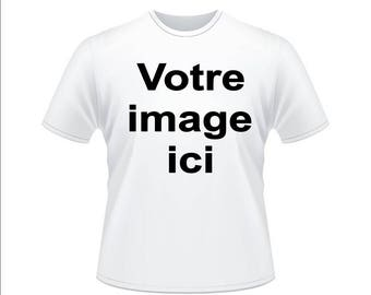 White t-shirt personalized with photo