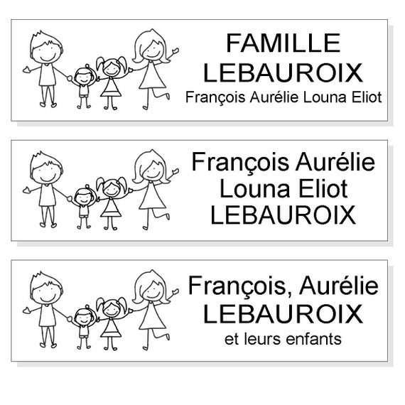 plaque boite aux lettres pictogramme famille fond blanc. Black Bedroom Furniture Sets. Home Design Ideas