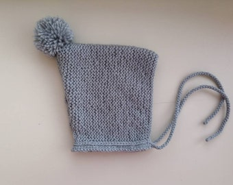 Hand knit baby hat  f09ce330671
