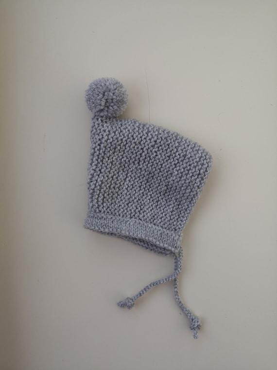 Hand Knit Newborn Baby Pixie Hat