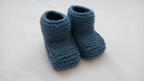Hand Knit Baby Booties Baby Knit Booties Knitted Baby Shoe Etsy