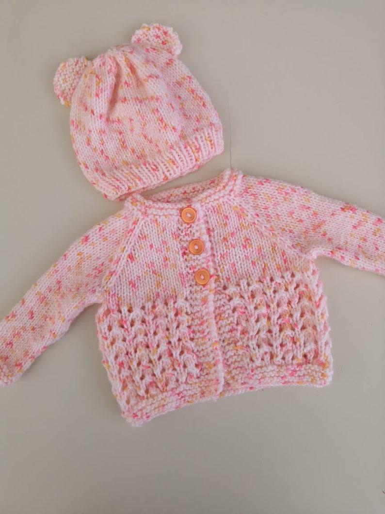 Hand Knitted Newborn Baby Cardigans