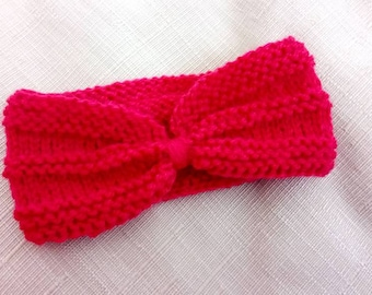 Knitted baby head band, Knitted head Wrap baby, baby head bow, Baby headband, Baby knits, Baby clothes, Newborn headband, Ready to ship