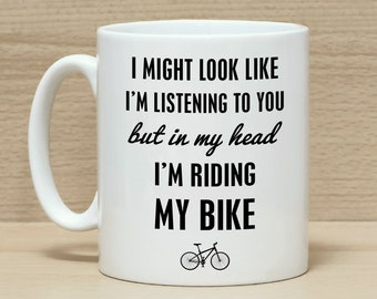 Bike Mug Gift For Cyclists Gifts Cycling Bicycle Funny Coffee Riding My Men Women
