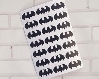 21x Batman Logo, Vinyl Sticker, Scrapbooking, Planner, Envelope Seals, non removable