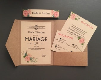 Faire Part Mariage Etsy