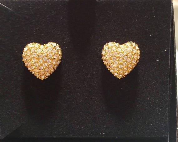Joan Rivers Heart Pin and Earrings Set
