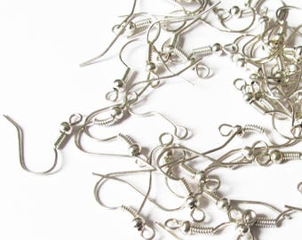 Set of 52 hooks from silver plated earrings