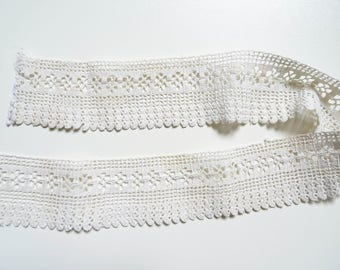 53cm ivory vintage lace crochet 4.5 cm in height