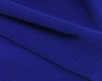 Royal Blue polyester crepe 0 80mx1 48 m
