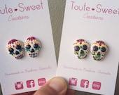 Sugar Skull Day of the Dead Halloween Earrings