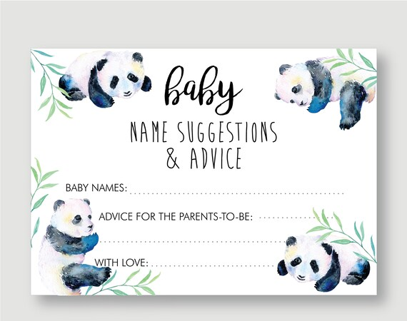 Baby Panda Baby Shower Decorations Gender Neutral Baby Shower Etsy