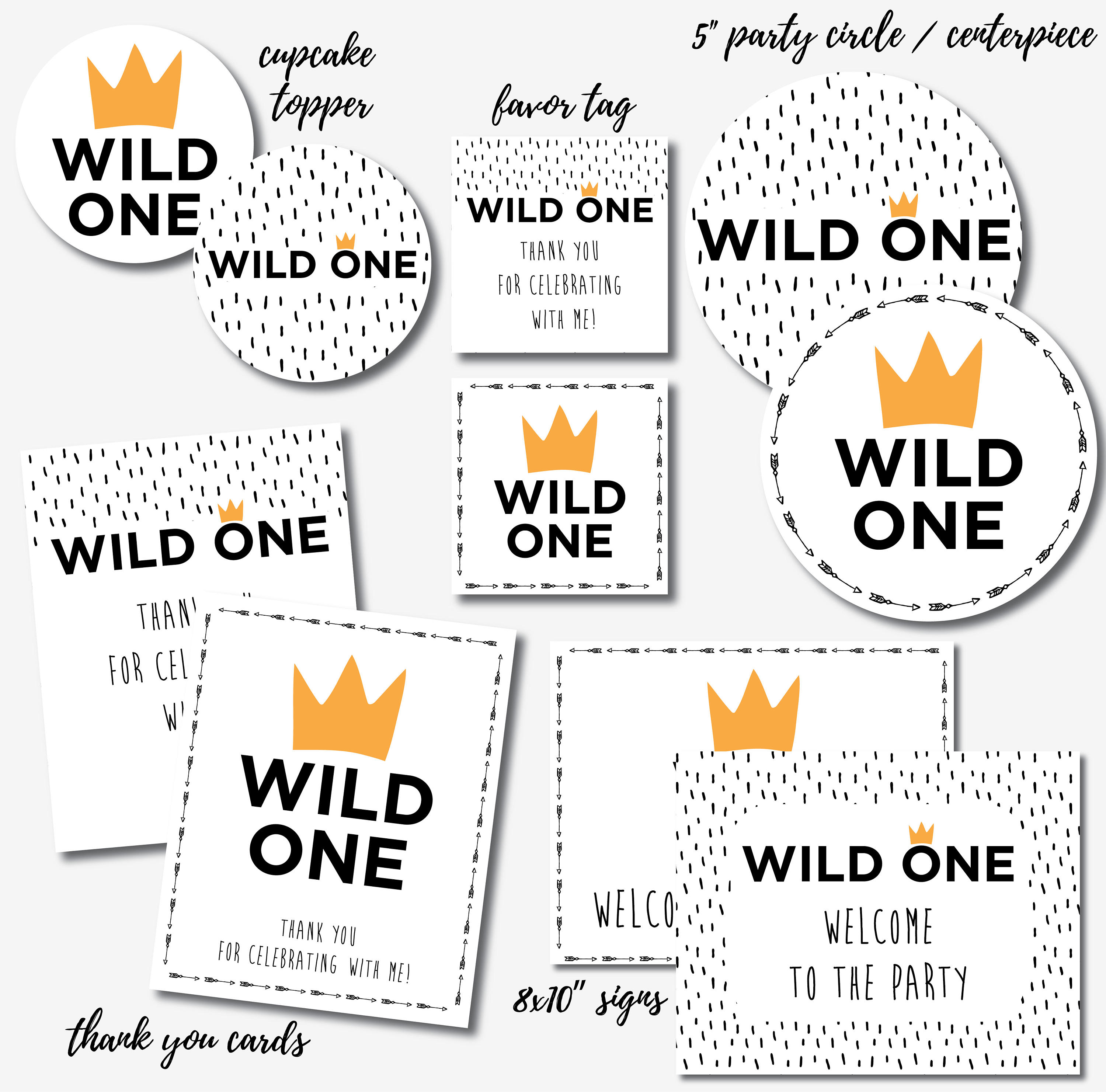 Wild One Birthday Decorations Party
