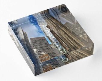 London City - Acrylic Block - BalazsRomsics 4 x4 / 6 x 6 Home decor