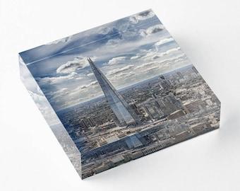 The Shard - Acrylic Block - BalazsRomsics 4 x4 / 6 x 6 Home decor