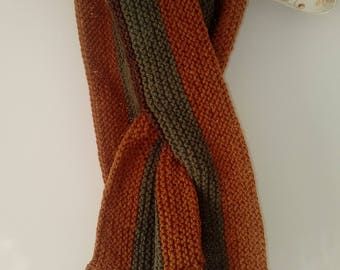 Beautiful buttoned handknitted cowl neckwarmer scarf - multi-coloured - FREE UK P&P