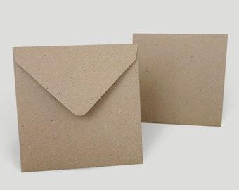 Envelopes Kraft speckled 140 x 140 mm