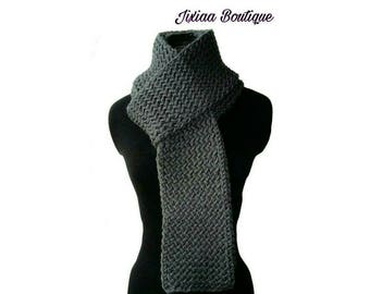 Charcoal gray scarf
