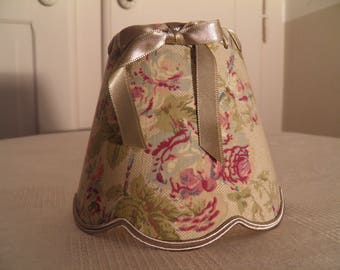 small Lampshade for applique and floral fabric chandelier