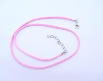 A pink necklace,imitation suede necklace, choker , suede chain,suede necklace