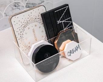 Eyeshadow Palette Makeup Organiser Vanity Storage Shelf in Clear Acrylic