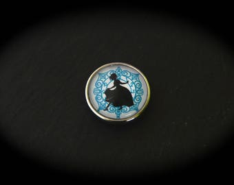 Cabochon in fancy pressure 18mm for jewelry - fairy tale: Cinderella