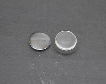 Lot 10 glass Cabochons 18 mm effect Magnifier