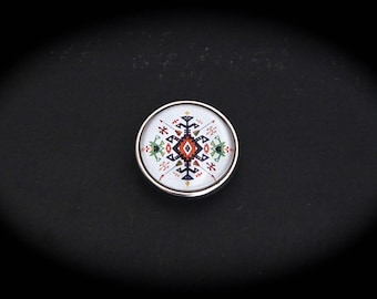 Cabochon 18mm for jewelry - Native American fancy pressure: arrows