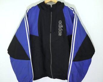 ADIDAS Vintage 90s ADIDAS Hip Hop Bomber Coat Parka Jacket