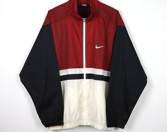 101e170444d355 Rare Vintage 80s 90s NIKE Windbreaker Colorway Multi Color Block Shell  Spary Jacket   Retro NIKE Old school Streetwear Hip Hop Rap Hypebeast