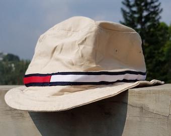 1f86be8894328 Rare Vintage 90s TOMMY HILFIGER TOMMY Girl Bucket Hat   Tommy Hilfiger Flag  Hat