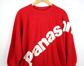 1311d88d023d8 Panasonic Rare Vintage 80s 90s Panasonic Sweatshirt Sweater Retro Pullover  Jumper Japan PANASONIC BIG LOGO