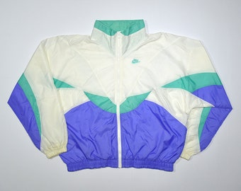 Rare Vintage 80 s 90 s NIKE coupe-vent Spary coloris Multi couleur bloc  veste   Retro Old school Streetwear Hip Hop Rap Hypebeast 14dbbb426beb