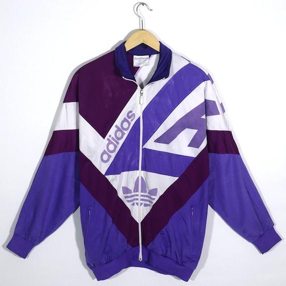 Vintage Tracktop  90s Sportswear Zip Track Jacket Old School Track Top Sports Training  size Medium