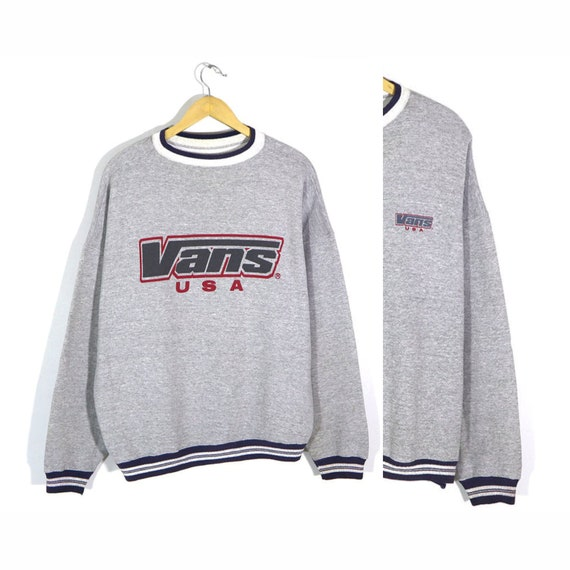 Rare Vans Vintage 90s VANS USA Sweatshirt Pullover