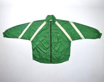 Vintage 90s NIKE Windbreaker Jacket / Retro NIKE Streetwear Old school Tracker / Color Block Nike Size Medium Training Running Shell Jacket