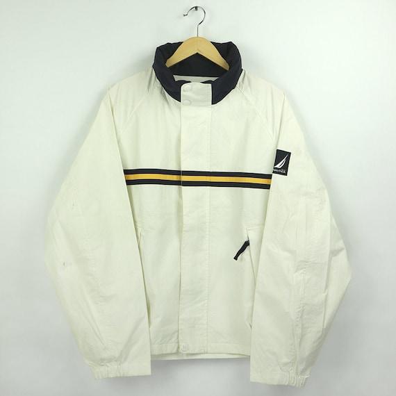 Vintage 90s NAUTICA NS-83 White Colorway Windbreak
