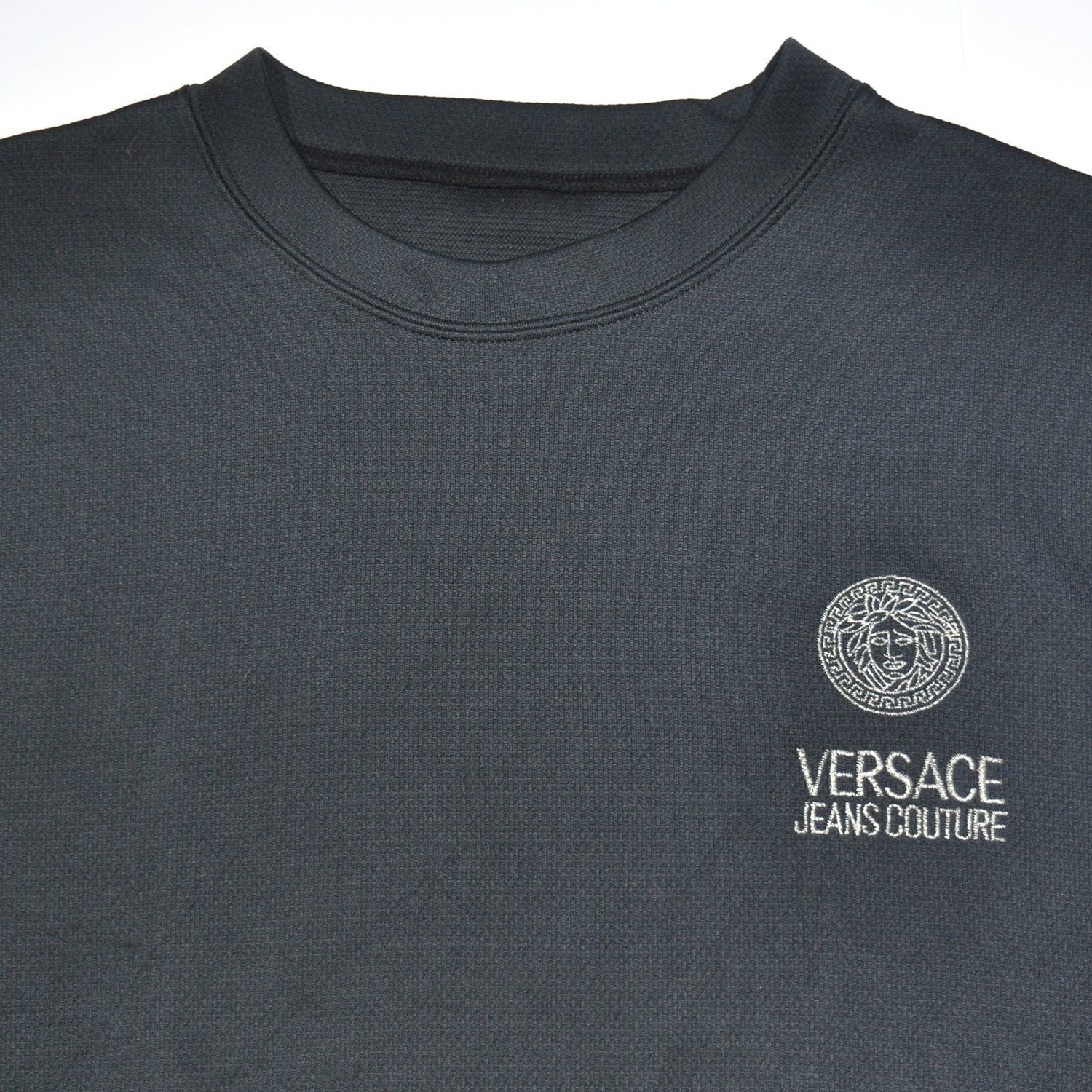 Vintage versace jeans coutore black long sleeve shirt etsy jpg 1500x1500  Versace clothing tag 9817f8c079a6c
