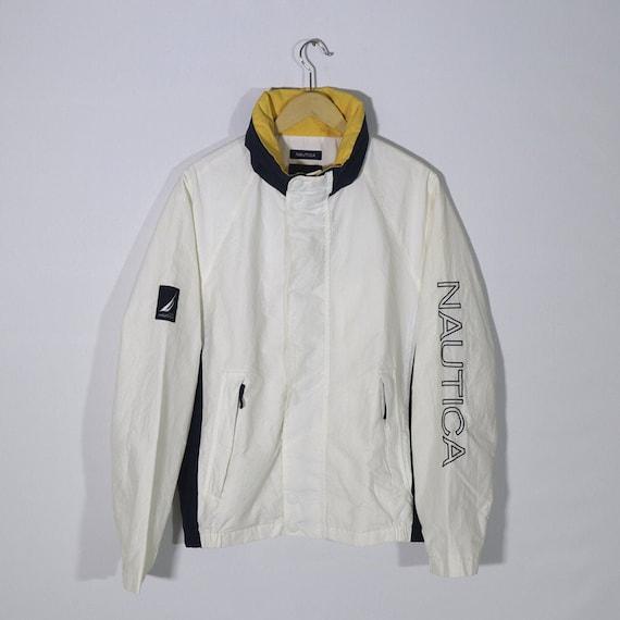 Vintage 90s NAUTICA White Beige Parka Jacket / Win