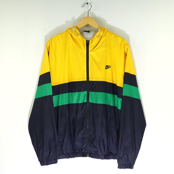 Yellow Windrunner Colour Block Quilted