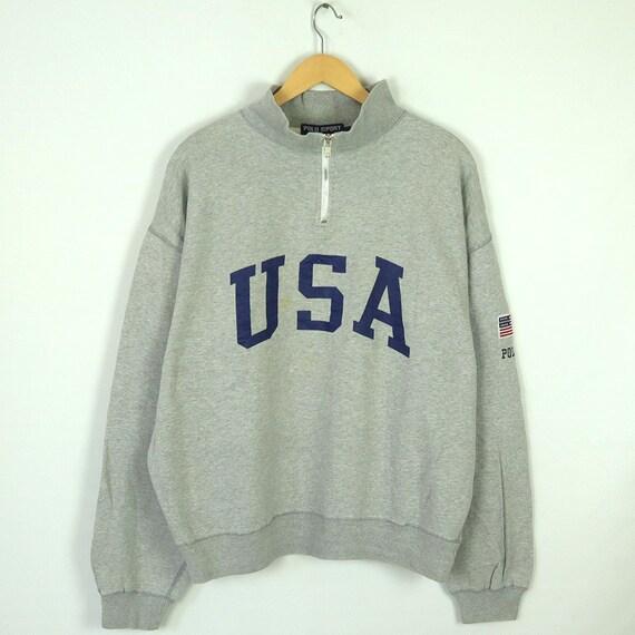 Vintage 90s POLO SPORT USA Sweatshirt Pullover Jum