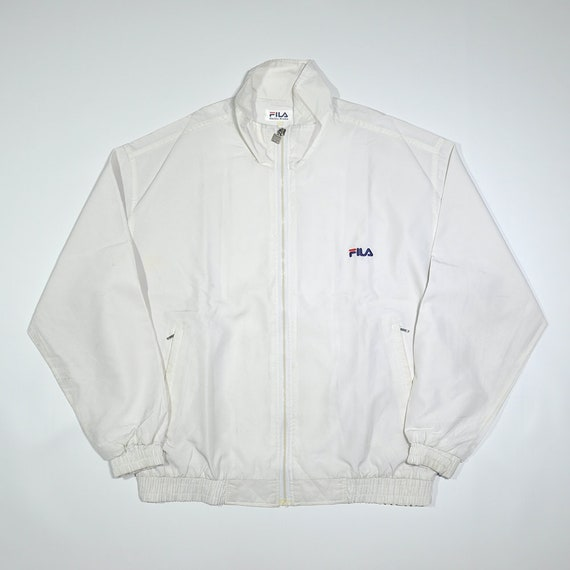 Rare Vintage 90s FILA SPORT Heritage Windbreaker Mid Bomber Jacket FILA Biella Italia Tennis Wind Up Shell Spray Retro Streetwear Jacket